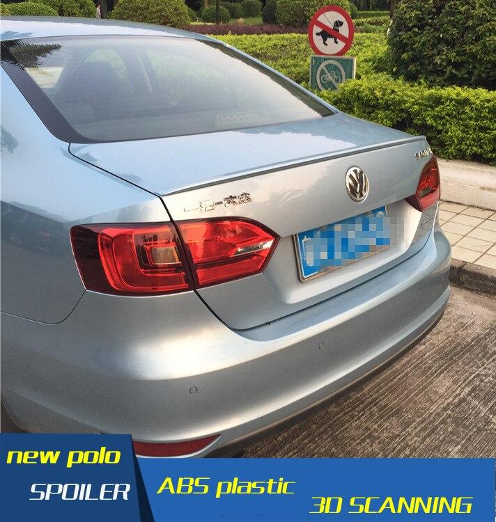 For VW Je tta ABS Material Car Rear Wing Primer Color VW Je tta Rear Spoiler For Volkswagen new Jetta Spoiler 2012-2014(China)