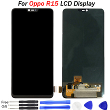Super AMOLED LCD For Oppo R15 LCD Display Touch Digitizer Assembly Replacement with free tools For Oppo R15 LCD Screen for oppo oneplus 3 a3000 rai lcd display with touch screen digitizer assembly by free dhl 100% warranty 10pc lot