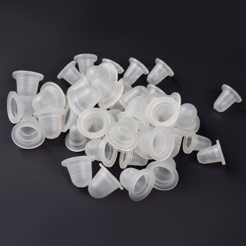 100Pcs S/L Disposable Microblading Tattoo Ink Cups Soft Silicone Eyebrow Makeup Pigment Holder Container Caps  Accessories