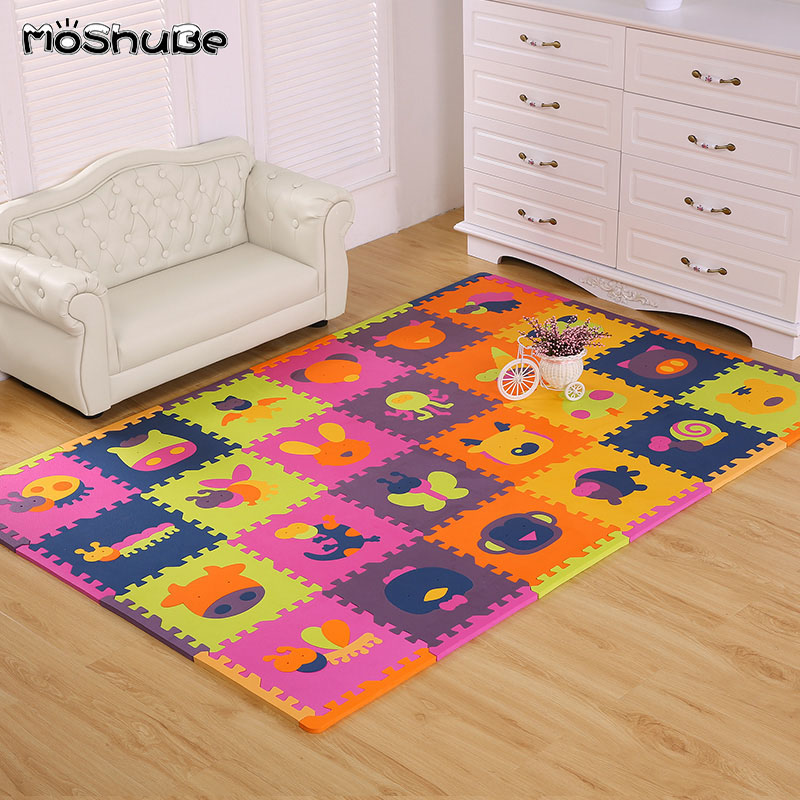 3 Mat Puzzle Play Baby Carpet Floor Crawling Kid Foam Soft Rug Activity Tile Mat