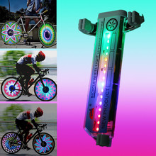 1pc Waterproof Spoke Light 16 LED Bicycle Lights Bike Cycling Wheel Signal Light Colorful Bicycle Cycling Wheel Spokes Lights cheap Aubtec Wheel light Battery consist of 16pcs colorful leds 16 5*3 8*1 5CM 10 hours as the picture