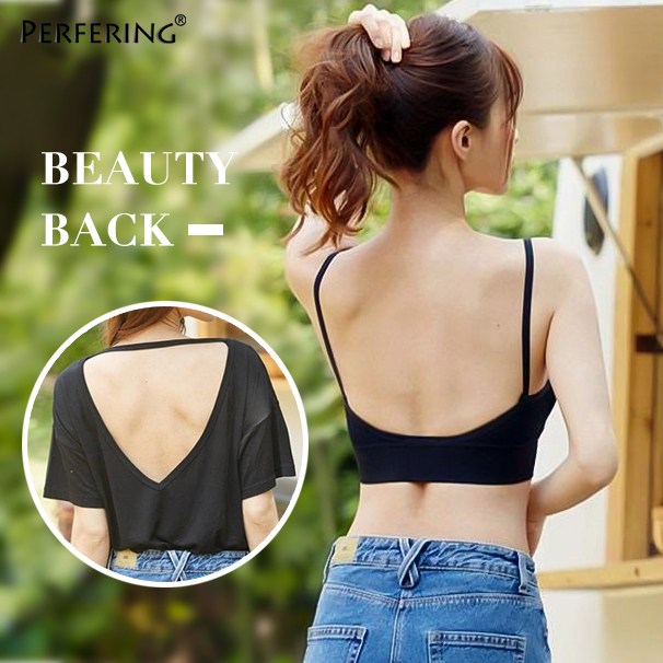 Perfering <font><b>Sexy</b></font> Invisible Plunge <font><b>Bra</b></font> Tube Top Lingerie Women <font><b>Deep</b></font> <font><b>U</b></font> Backless Elastic <font><b>Bras</b></font> <font><b>u</b></font> shape Low cut <font><b>Push</b></font> <font><b>Up</b></font> Brassiere image