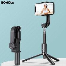 Bonola 3 in1 kardana ręczna stabilizator Smartphone statyw do Selfie dla iOS/Android stabilizator kamery dla iPhone11/SamsungS10