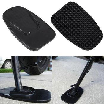 1 sztuk czarny uniwersalny motocykl plastikowa podpórka boczna Moto Bike Kickstand antypoślizgowa płyta boczna rozszerzenie wsparcie stóp Pad podstawa tanie i dobre opinie TRUEFUL 12 6cm plastic Stojaki 8 2cm motorcycle support base plate