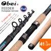 Obei Feeder FIshing Rod Telescopic Spinning Casting Travel Rod3.0 3.3 3.6m Vara De Pesca Carp Feeder 60-180g Pole