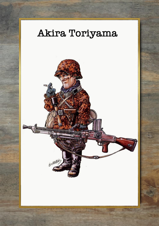 Akira Toriyama World Ww2 Soldiers Comics Canvas Painting Vintage Kraft Posters Classic Wall Art Stickers For Nursery Kids Painting Calligraphy Aliexpress