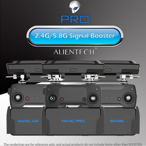 Image 1 - ALIENTECH 3 Pro 2,4/5,8G Antenne Signal Booster Range Extender für DJI Mavic 2/Pro/Air /Mini Phantom 4 Pro V2.0 Inspire 2 Drone