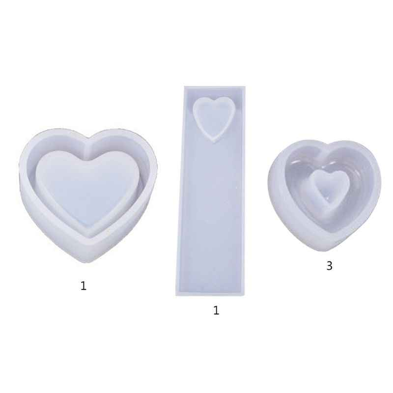 Mold Jewelry Silicone Making Pendant Love Craft Tool Casting Mould Heart Resin
