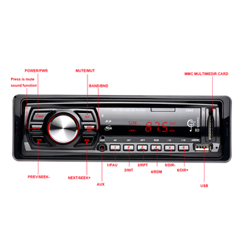 Hot 1 Din Car MP3 Player Radio Tuner  Auto Audio FM  Modulator Support USB AUX-IN SD Card Remote Control Music Player for Audi V
