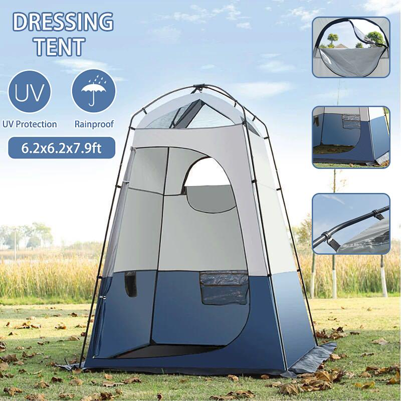 Camping Portable Toilet Tent-Movable WC Bathroom Shower Dressing Room