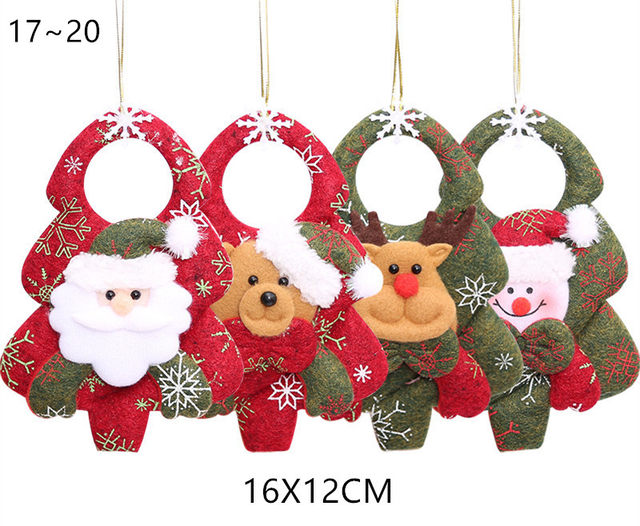 New Year 2020 Cute Santa Claus/Snowman/Angel Christmas Dolls Noel Christmas Tree Decoration for Home Xmas Navidad 2019 Kids Gift 21