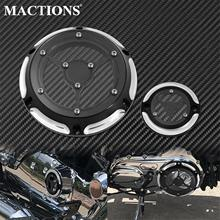 Motorcycle CNC Transparent 6 Holes Derby Timer Timing Engine Clutch Cover For Harley Sportster XL XR 04 17 883 1200 72 48 Custom