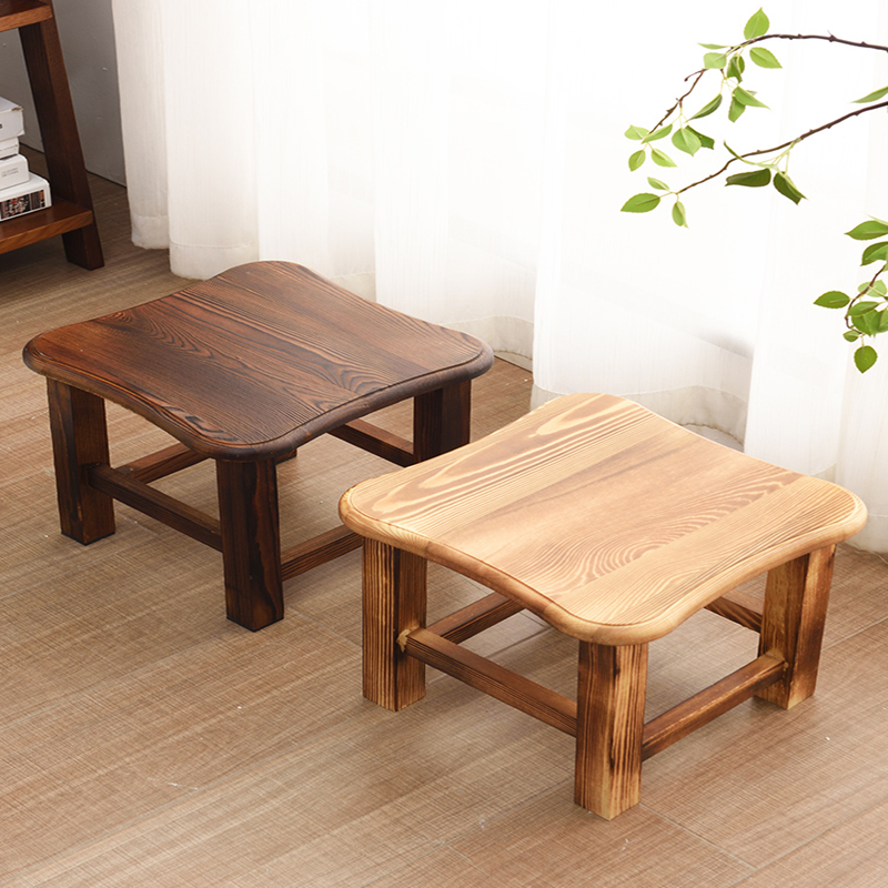 Solid Wood Stool Home Adult Living Room Creative Wooden Bench Change Shoe Bench Coffee Table Stool Children Small Bench