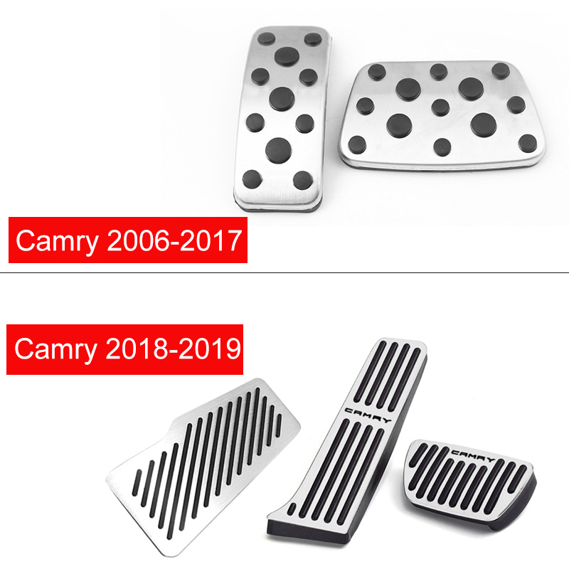 Car Accelerator Gas Brake Pedal Footrest Pedals Non Slip Pad Cover Case AT For Toyota Camry 2006 2017 2018 2019 2020 Accessories in Pedals from Automobiles Motorcycles