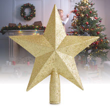 Albero di Natale Top Stelle Pentagramma Decorazione Accessori Ornamento Topper per La Casa E2S(China)