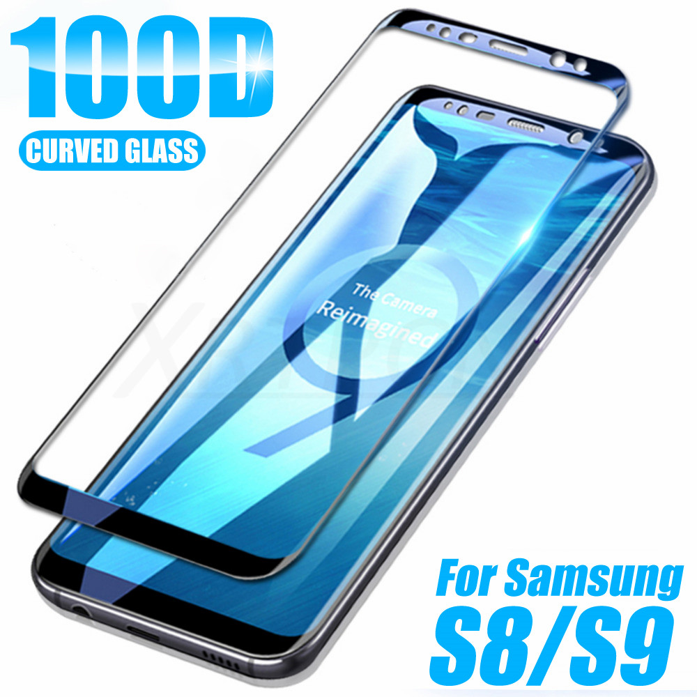 100D Protective Tempered Glass On The For Samsung Galaxy S8 S9 S7 Note 8 9 S7 Edge S8 S9 Plus Screen Protector Glass Film Case
