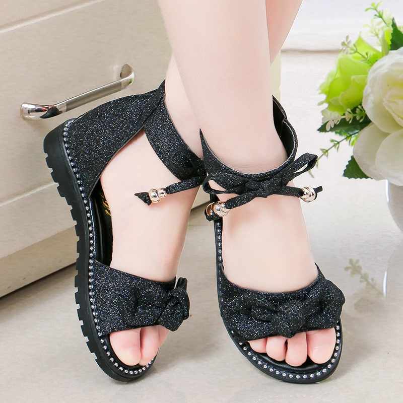 Newest Summer Kids Sandals Fashion Hollowing Out Girls Sandals Non-slip Twinkle Children Shoes Roman Shoes