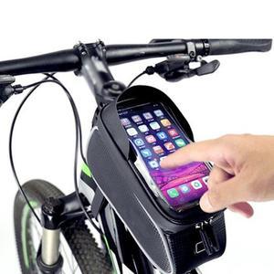 Велосипедная передняя трубка сумка Аксессуары для велоспорта рама водонепроницаемые передние сумки сотовый мобильный телефон чехол 6 дюйм...