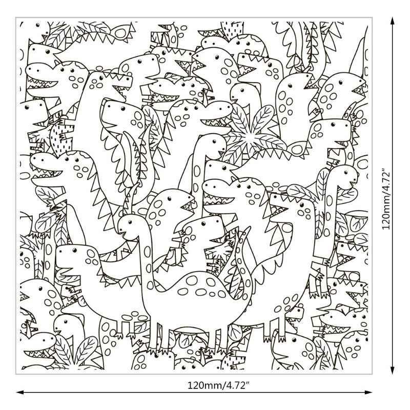 Dinossauro Transparente Selo Para Scrapbooking Borracha de Silicone Transparente Álbum de fotos DIY Decoração R7RC