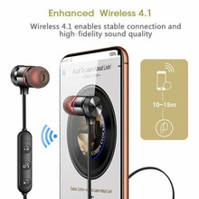 Sport Gym Headphones Magnetic Wireless Bluetooth Earphone Earbuds Stereo Surround Bass With Microphone Headset(China)