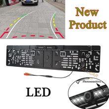LED dynamiczne trajektorie utworów noktowizor tablica rejestracyjna samochodu ue rama kamera tylna kamera parkingowa Backup kamera CCD