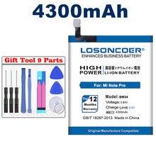 Losoncoer 4300 mah bm34 baterias do telefone móvel built-in li-ion para xiao mi mi nota pro bateria + ferramentas