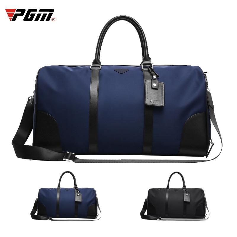 1 Pcs Golf Clothing Bag Pgm Men's Nylon Bag Large Capacity Ultra Light And Portable Golf Sneaker Double Layer Handbag