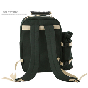 Image 5 - Outdoor Picnic Backapck Rucksack Portable Camping Travel BBQ Thermal Lunch Bag Picnic Bags with Tableware Cutlery Set