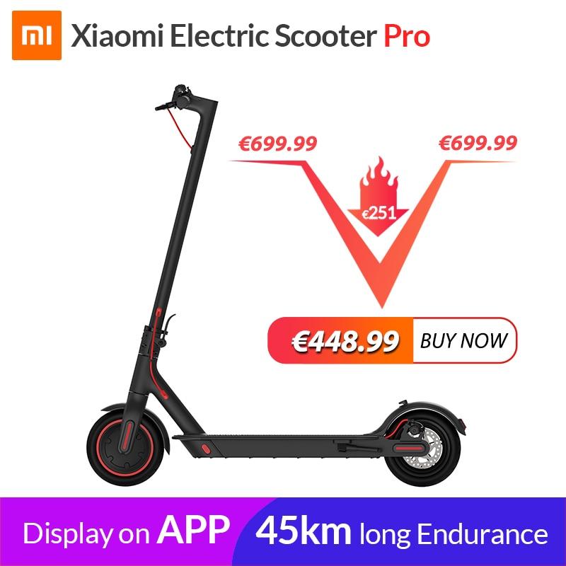 Xiaomi mi M365 Scooter Elétrico Inteligente Pro Scooter E Longboard Skate Hoverboard mijia patinete elétrico adulto 45km Bateria