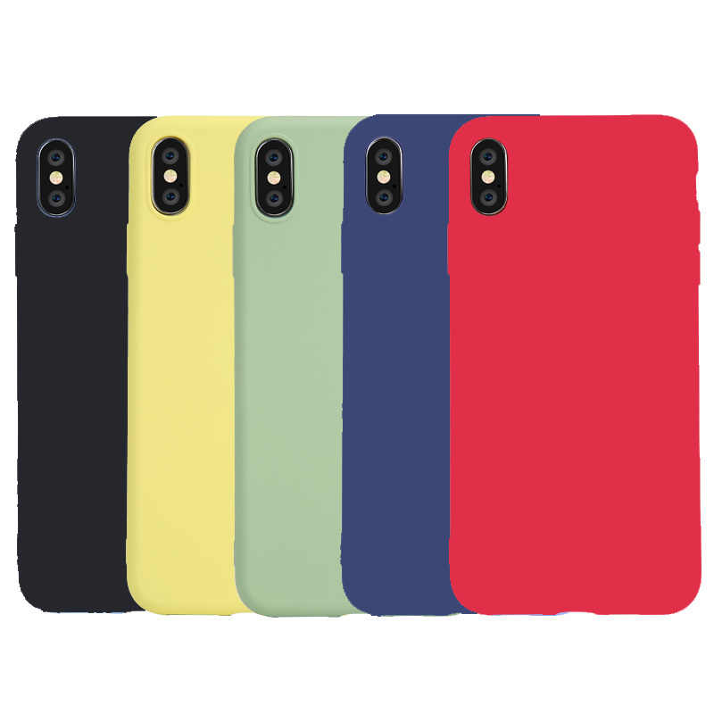 Dunne Zachte Case Voor Iphone 6 6 S 7 8 Plus Matte Candy Silicone Tpu Phone Case Cover Funda Voor apple Iphone 11 Pro Xs Max X Xr