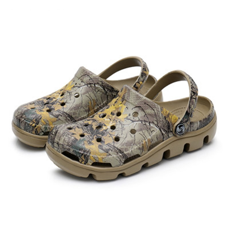 2020 New Summer Men Mules Clogs <font><b>Eva</b></font> <font><b>Material</b></font> Special Print Beach Garden Clog <font><b>Shoes</b></font> Men's Family Travel Clog <font><b>Shoes</b></font> Slippers image