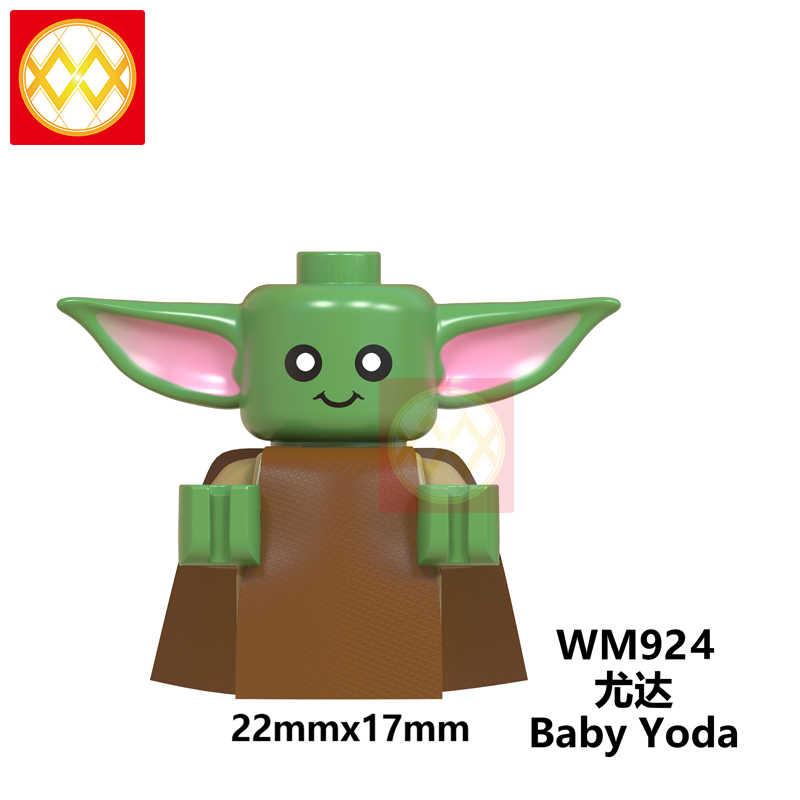 Бесплатная доставка Новые Звездные войны Детские йода Рыцари Рена мандалорские фигурки Ray Empire робот-нападающие wm6085 строительные блоки игрушки