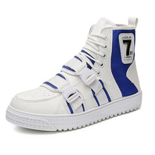 spring autumn Fashion Sneakers Men Canvas Shoes High top Mal