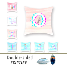 Trending Vibrato Fault Double-sided Polyester Cushion Cover Alphabet Angel Pattern Wicker Chair Decoration AccessoriesPillowCase