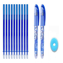 Erasable Pen Set Washable handle Blue Black Color Ink Writing Ballpoint Pens for School Office Stationery Supplies Exam Spare