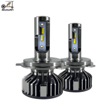 FUXUAN Car Headlight Bulbs H4 led H7 H1 H3 H11 H8 H9  9005 HB3 9006 HB4 Car headlight LED 72W 16000LM 6500K 12V Car light bulb 2pcs led headlight 72w kit 16000lm kit h4 high low beam h7 9005 9006 hb4 cob s2 auto car light all in one automobile lamp 6500k