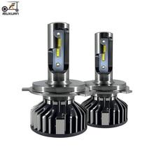 FUXUAN Car Headlight Bulbs H4 led H7 H1 H3 H11 H8 H9  9005 HB3 9006 HB4 Car headlight LED 72W 16000LM 6500K 12V Car light bulb all in one 2x 30w 3600lm gen 2s led car headlight 9005 hb3 cree chip eti chips 12 24v car headlight led headlight conversion kit