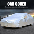 Автомобильный ветрозащитный чехол УФ водонепроницаемый чехол солнцезащитный тент из ткани чехол для автомобиля Серебряный чехол для авто...