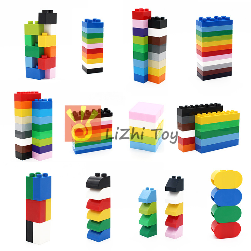 MOC DIY Building Blocks Duplo Bricks Assembled Accessories Bulk Part Compatible With Legoingly Duplo Toys