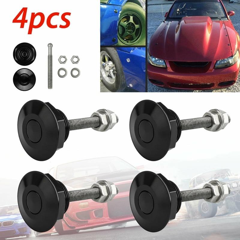 """4 pçs universal 32mm/1.25 """"botão de pressão boleto capa pinos bloqueio clipe kit motor bonnets bloqueio de alumínio do carro trava rápida Capuzes    -"""