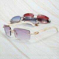 Vintage Rhinestone Sunglasses Men Buffalo Horn Shades for Women Gafas De Sol Carter Sunglasses for Men Purple Glasses Frame
