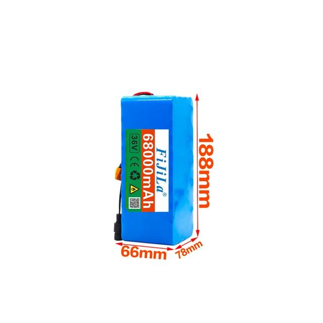2020 Original 36VXT60 batterie 10S4P 68Ah batterie 500W haute puissance batterie 42V 68000mAh Ebike vélo électrique BMS + 42V2A chargeur