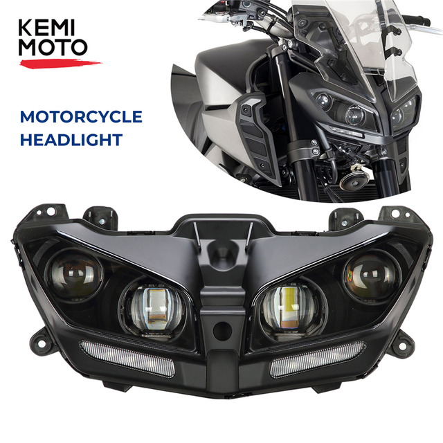 Motorcycle Headlight Waterproof LED Lights For YAMAHA MT09 MT 09 MT-09 2017 2018 2019 2020 Motorcycle LED Lamp DRL 110W Bright 1