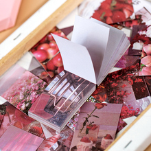 50sheets Ins Style Sticker Book Washi Paper journal DIY Material Decoration Sticker Memo Pad Scrapbook Stationery