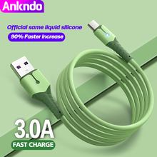 ANKNDO Usb C כבל 3A מהיר טעינה עבור טלפון סוג C כבל עבור סמסונג Huawei Xiaomi רך קלטת אור Usbc סוג C Usb נתונים כבל