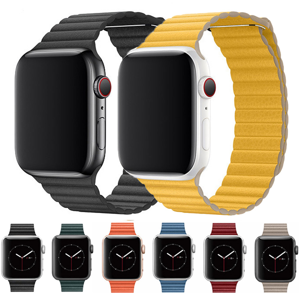 Leather Loop Strap For Apple Watch Band 44mm 40mm For Iwatch Band Series 5 4 3 2 1 Bracelet 42mm 38mm Wristbands
