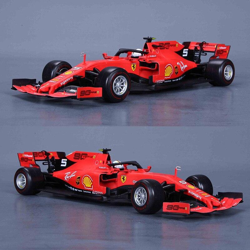 Burago 2020 Ferrari F1 Equation Race Car Sf90 1: 18 Model Alloy Car Model Ornaments High Simulation Toy Gift Collection
