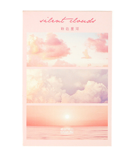 Pink Landscape Paper Postcard(1pack=30pieces)