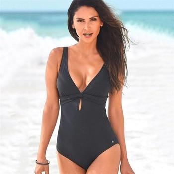 Badeanzug Frauen Badeanzug Strand 1