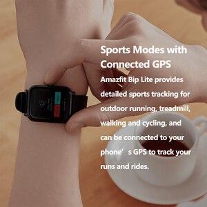 Image 4 - Amazfit smartwatch bip lite, versão global, leve, resistente à água até 3atm, com 45 dias de modo de espera, gps